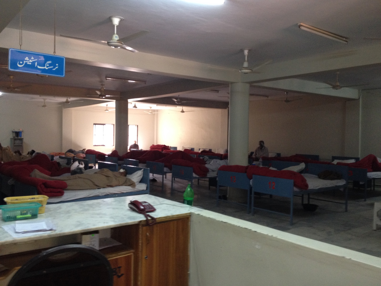 Eye Disease and Surgery Patients lying in the ward